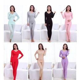 Vente De Conditionnement Thermique Hivernale Pas Cher-Hot Sale Winter Women sans soudure Warm Long Johns Fashion Sexy Women Slimming Thermal Underwear Body Shaper Underwear Sets