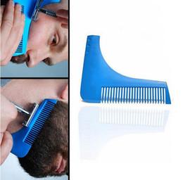 Novo Shaver Barba Facial Ferramenta de Modelagem de Cabelo Facial Cavalheiro Barba Guarnição Bigode Molde modelagem de corte de Cabelo Barba Shaping Pente