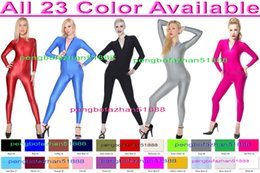 Costumes Sexy En Spandex Pas Cher-Sexy 23 Couleur Lycra Spandex Costume Catsuit Costumes Unisexe Body Sexy Body Costumes Halloween Party Fantaisie Robe Cosplay Costumes P023