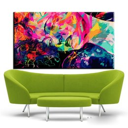 Decorative pictures for beDrooms online shopping - ZZ676 watercolor canvas posters and prinst art colorful girl decorative canvas pictures oil art painting for livingroom bedroom