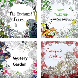 Newest 4 Style Coloring Books Relieve Stress Adult Picture Painted 100pcs Lot IC862