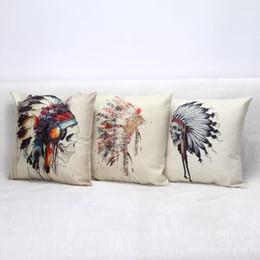 $enCountryForm.capitalKeyWord Canada - India Skull Pillow Case Cotton Linen Horrible Punk Style Chair Seat Waist 45x45cm Square Pillow Cover Home Textile Living