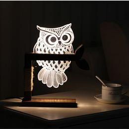 Honey Fox Owl Led 3d Nightlight Creative Visual Touch Charging 3d Lamp Childrens Room Decoration 3d Night Light Novelty Lighting