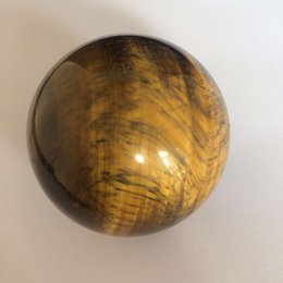 Sphere Healing Stone Canada - Wholesale natural tiger eye ball crystal stone polished quartz gemstone hand carved sphere healing Reiki quartz