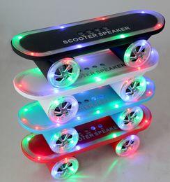 $enCountryForm.capitalKeyWord Canada - wholesale Bluetooth Speaker LED LIGHTS Limited Edition Skateboard Scooter Portable Bluetooth Speaker Wireless Handsfree TF Card U Disk Supp
