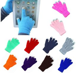 Golf Edge Canada - Winter Full Finger Gloves Conductive Capacitive Touch Screen Gloves for iPhone iPad Samsung Edge Tablet Phone Mittens