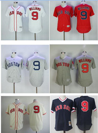 ... 9 Ted Williams Mitchell Ness Boston Red Sox baseball jerseys Authentic  Cooperstown Collection Batting Practice Jersey 10b055ac671