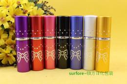 $enCountryForm.capitalKeyWord Canada - 2016 New 10ml Drill Point Perfume Bottle Travel Perfume Atomizer Aluminum Refillable Pump Spray Small Portable Bottle 7 Colors Hot Sales