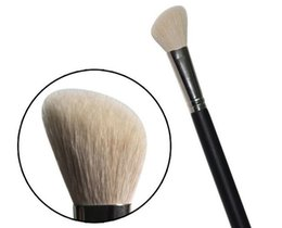 Hair Angles Canada - 500pcs-Hot Supplying New Branded Cosmetics #168 Angled Blush Brush MC Makeup Face Blusher Shading Single Brushes Goat Hair free shipping