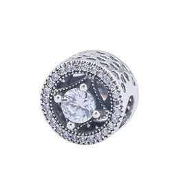 $enCountryForm.capitalKeyWord UK - Allure Openwork Charm Beads Authentic 925 Sterling Silver Jewelry Pave Clear Crystal Flower Beads For DIY Brand Logo Bracelets Making