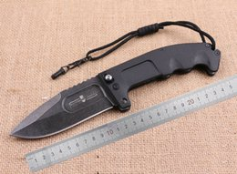 Barato Casaco De Ponto-SAMIOR Extrema Ratio Guerra Urso Grande tamanho Tactical Knife Clip Drop Point Blade Revestido Black Titannium Zytel Handle Folding Outdoor facas