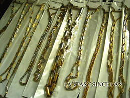 Wholesale Brand New Pieces Mixed Styles Gold Men s Stainless Steel Chain Necklaces Fashion Jewelry