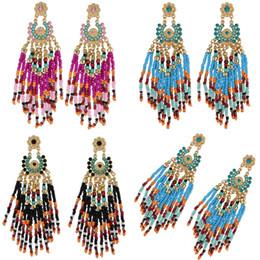 Vintage copper hoop earrings online shopping - 3 Styles Vintage Beads Alloy Tassel Earrings Wedding Drop Dangle Hoop Earring Accessories Ethnic Bohemian Eardrop For Women Free DHL B737LR
