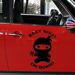 $enCountryForm.capitalKeyWord Canada - 36.5cm x 50cm Baby Ninja On Board Cute Child Safety Car Sticker For Cars Door Side Truck Window Vinyl Decal 8 Colors