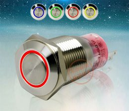 Waterproof momentary push button sWitch online shopping - YJ GQ16F EZ LED Metal Push Button Switch Stainless Steel NO NC mm Dia V Self Locking or Self Reset Momentary Waterproof