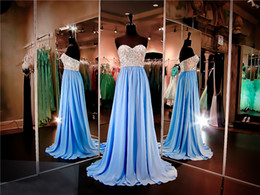$enCountryForm.capitalKeyWord Canada - Turquoise Chiffon Flowing Prom Gown with Nude Beaded Strapless Bodice Evening Dress A-line Pageant Dresses party dress