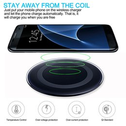 Charger Samsung Quality Australia - Premium Quality Universal Qi Wireless Charger for iPhone 7 8 plus xr xs max Samsung s9 note 9 fast Charger with Retail Package