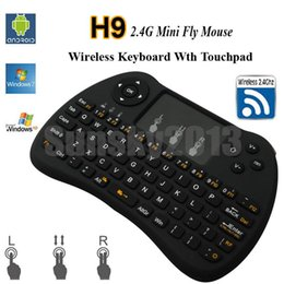 $enCountryForm.capitalKeyWord Canada - Wireless Mini Keyboard H9 2.4GHz Fly Air Mouse with Touch Pad QWERTY Remote Control for Android TV Box 360 Xbox Gamepad IPTV VS Rii i8 MX3