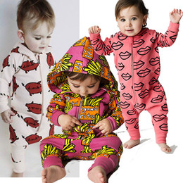 89797607e57 Baby Rompers with Hoodies Foxtail Printed Jumpsuits Cartoon Long Sleeve  Newborn Jumpsuits 90% Cotton Autumn Outfit 6-24M
