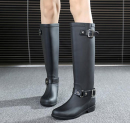 07afc529b24 high quality 2016 new long-tube buckle fashion boots boots women s high  tube Korean version of the rain boots
