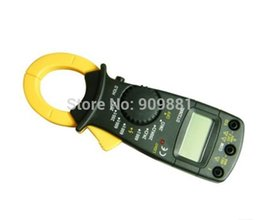 Chinese  Black AC DC Digital Clamp Multimeter DT3266L Electronic LCD Clamp Meter Voltage Current Resistance Tester Multimeter High Precision manufacturers