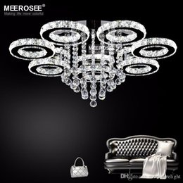 Discount ceiling lights crystal drops 2018 ceiling lights 2018 ceiling lights crystal drops modern chandelier light fixture led ceiling light lighting crystal flush mounted aloadofball Choice Image