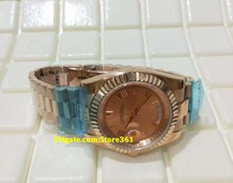 Luxury Gifts NZ - Christmas gift swiss Luxury watches top brand Automatic 18K Day Date II 18k rose Gold 41mm Pink Roman Dial 218235