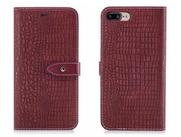 iphone6 ​​hüllen großhandel-Neue flip abdeckung für iphone s x plus case leder luxus alligator leder krokodilleder für iphone6 iphone7 plus case