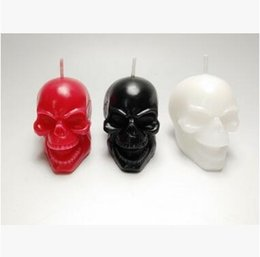 b7b2e2ace27 Wholesale Halloween Skull Head Candles Creative Halloween Party Supplies  Scary Skeleton Candles Festival Use Art Candles Home Decorations