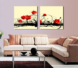 islamic cartoon Canada - Free shipping 2 Pieces no frame Canvas Prints Chrysanthemum rose Calla Lily Old house Islamic architecture Abstract oil painting flower