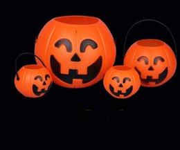 2017 halloween supplies decorative props 76cm supplies halloween supplies decoration props portable pumpkin bucket - Discount Halloween Props