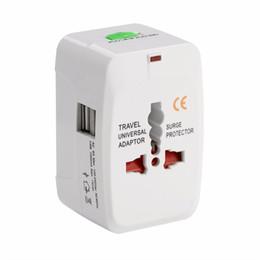 Transmisor universal de corriente de viaje Adaptador de corriente para el enchufe Protector contra sobretensiones Conector universal universal de energía de viaje Enchufe (US UK UE AU AC Plug)