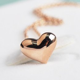 $enCountryForm.capitalKeyWord Canada - 2016 summer fashion heart pendant necklace for women,18k rose gold filled jewelry ,Gold Plated chains necklaces