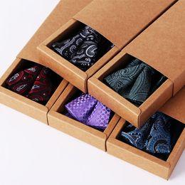Ivory Linen Suit Canada - [spot] polyester jacquard tie scarf tie suit Peiris gift box boutique goods wholesale