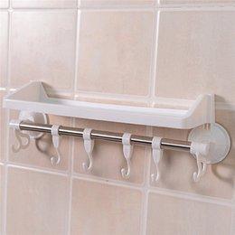 Best Price Home Bathroom Kitchen Plastic Shower Gel Storage Rack Holder  Shelf Wall Suction Adsorption