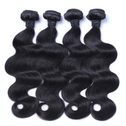 China 4pcs Indian Body Wave Human Hair Bundles Natural Black Virgin Wavy Hair Weaves 8-32inch No Shedding G-EASY cheap virgin russian hair body wave suppliers