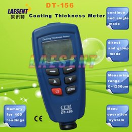 Coating Thickness Meter NZ - Wholesale-Free shipping Coating Thickness Meter Paint Gauge Auto F NF Probe V-groove DT-156