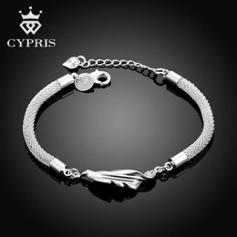 fancy charm bracelet 2019 - Wholesale-H361 Leaf Style handmade women european charm silver bracelet 2016 wholesale fancy promotion bulk classic luxu