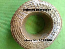 Wholesale-100m / lot 2x0.75 Vintage Seil Draht verdreht Kabel Retro geflochtene elektrische Draht DIY Pendelleuchte Draht Vintage Lampenkabel