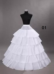 plus size petticoats Canada - Wedding Petticoats Hoops Ball Gowns Underskirts for Wedding Bridal Dresses Plus Size Crinoline Petticoat Free shipping WS004