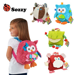 Wholesale Kids Shoulder Bag Canada - Cute 25cm Children SOZZY School Bags Lovely Cartoon Animals Backpacks Baby Plush Shoulder Bag Schoolbag Toddler Snacks Book Bags Kids Bag
