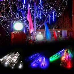 new led meteor shower rain lightsdrop icicle snow falling raindrop 30cm 8 tubes waterproof cascading lights for wedding xmas home decor myy - Raindrop Christmas Lights