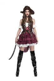 China Halloween Costume for Women Sexy Caribbean Captain Pirate Costumes Adult Female Warrior Fancy Cosplay Dress Clothing Carnival suppliers