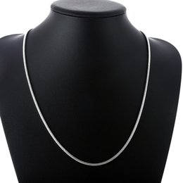 $enCountryForm.capitalKeyWord Canada - 925 Sterling Silver Snake Chains 18inch 3mm Jewelry Snake Unisex Necklace Chain Good Quality Free Shipping 20pcs N192
