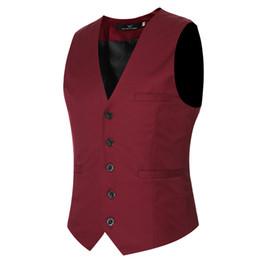Wedding Waistcoat for men designs online shopping - 9 Color Plus Size Mens Dress Vests For Man Suit Sleeveless Male For Vest Waistcoat Designs Wedding Dresses Blazer Coat Vest