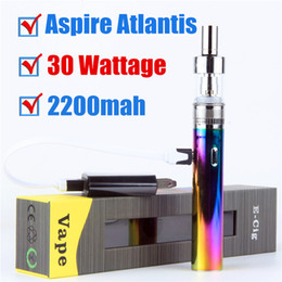 rda starter kit UK - A spire vape mod TVR 30W Machanical Mod Starter Kits Electronic Cigarette TVR 30 2200mah battery with RDA Atlantis Vaporizer vape Pen