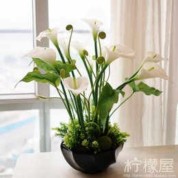 Artificial Flowers Bonsai Plants Set Pastoral Calla FLOWER FLOWER FLOWER  Placed In The Living Room Interior Decoration Part 41