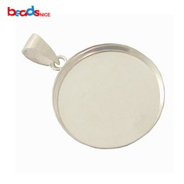 Pendant blanks canada best selling pendant blanks from top sellers sterling silver pendant blank 20mm inside diameter19mm hole 35mm sold by pc id 27611 mozeypictures Choice Image