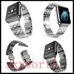apple watch 38mm classic 2019 - For Apple Watch Bands Stainless Steel 5 Bead Strap watchband butterfly buckle 38MM 42MM+ Connector adapter Classic Luxur