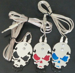 $enCountryForm.capitalKeyWord Canada - 5Pcs Mixed Color Wholesale Tattoo Foot Pedal Power Supply Footswitch SKULL Foot Pedal